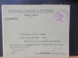 87/396 LETTRE  ADMINISTRATION COMMUNALE FRAMERIES 1951 - Belgium