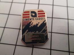 816b Pin's Pins / Beau Et Rare / THEME : MARQUES / SERVICE COMMERCIAL CIMENTS CEDEST - Arthus Bertrand