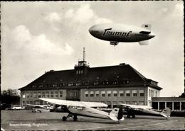 Cp Braunschweig In Niedersachsen, Partie Am Flughafen, Propellerflugzeuge, Trumpf Zeppelin LEMO - Allemagne