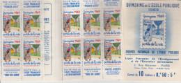 Quinzaine Ecole Publique 1969 - Carnet Avec Timbres Collés (humidité Hélas) - Jean Eiffel - Commemorative Labels