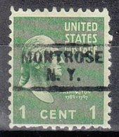 USA Precancel Vorausentwertung Preo, Locals New York, Montrose 729 - Préoblitérés