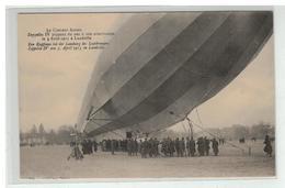 54 LUNEVILLE LE CROISEUR AERIEN ZEPPELIN IV PIQUANT DU NEZ A SON ATTERISSAGE LE 3 AVRIL 1913 - Luneville