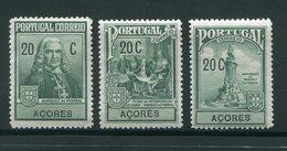 ACORES- Y&T N°251 à 253- Neufs Avec Charnière * - Azores