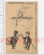 Presse 1907 Humour Enfant Qui Fume La Pipe Enfants Des Rues Dessin De Poulbot Jeunesse Moderne 229K - Zonder Classificatie