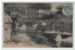 54 LUNEVILLE GARNISON PASSAGE DE RIVIERE MATERIEL VEYRY CONSTRUCTION D UN PONTON - Luneville