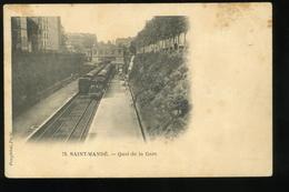 94 Val De Marne Saint Mandé Quai De La Gare Pouydebat Pionnière Carte Tachée - Saint Mande