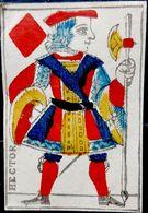 CARTE A JOUER ANCIENNE 18° SIECLE HECTOR VALET DE CARREAU TROU D'ATTACHE - Kartenspiele (traditionell)