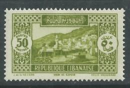 Grand Liban  N° 147 X  Partie De Série :  50 Pi Vert-jaune, Trace De Charnière Sinon TB - Neufs