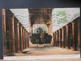 87/400 CP PALESTINA POUR LA BELG. 1928 - Palestine