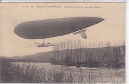 60-COMPIEGNE LE CLEMENT BAYARD TRAVERSANT L AISNE - Dirigeables
