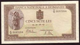 ROUMANIE - Billet 500 Lei  19 04 1942 - Pick 51 - Rumania