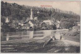 Bayern - Wolfratshausen Flosslände Sw-AK Gelaufen Beuerberg 1913 - Allemagne