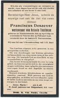 Oostduinkerke / Veurne / Doodsprent / Bidprent / 1936 - Devotieprenten