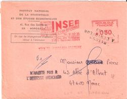 Lot Et Garonne :- NERAC Griffe Linéaire RETOUR A L'ENVOYEUR 2619 - Postmark Collection (Covers)