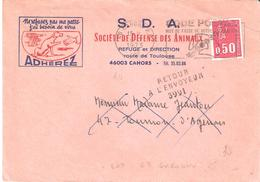Lot Et Garonne :- TOURNON D'AGENAIS Griffe Linéaire RETOUR A L'ENVOYEUR 3991 - Postmark Collection (Covers)