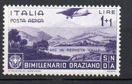 1936 Regno Orazio Aerea N. A 98  1+1 Lire Violetto Integro MNH** - 1900-44 Victor Emmanuel III