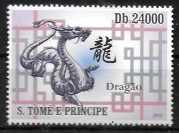 SAINT THOMAS ET PRINCE  N° 3697 * *  Astrologie Zodiaque Dragons - Astrologie