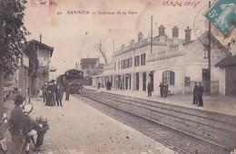 SANNOIS     INTERIEUR DE LA GARE  . TRAIN - Sannois