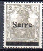 Sarre: Yvert N°1(*) - Ungebraucht