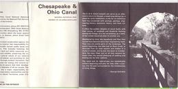 Brochure Dépliant Faltblatt Folder - Toerisme Tourisme - Chesapeake &Ohio Canal - Columbia Maryland + Map - Dépliants Touristiques