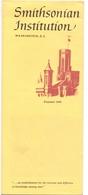 Brochure Dépliant Faltblatt Folder - Toerisme Tourisme - Smithsonian Institution - Washington DC - Dépliants Touristiques