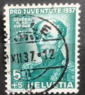 Helvetia - 1937 - (o) - Used - Gen. H. Dufour - Switzerland