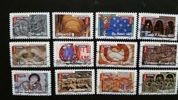 France Timbres Oblitérés  N° A455 à A466 Année 2010 - Série Complète Art Roman - Francia