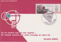 Carte   FRANCE  RESISTANCE  Combats  Du  VERCORS   VASSIEUX  EN  VERCORS   1984 - Guerre Mondiale (Seconde)