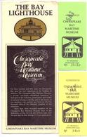 Brochure Dépliant Faltblatt Folder - Toerisme Tourisme - The Bay Lighthouse - Chesapeake Bay Maritime Museum St Micheals - Dépliants Touristiques