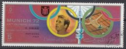 Umm Al Qiwain 1972 Mi. 725IIA Olimpiadi Monaco Vincitori Oro Gold Tuffi Piattaforma K. Dibiasi CTO - High Diving