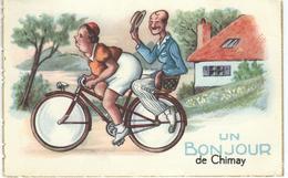 Un Bonjour De CHIMAY - CPA Humoristique - Cachet De La Poste 1957 - Chimay