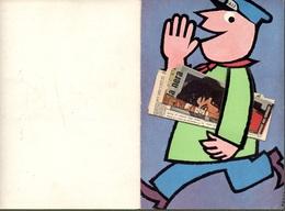 """01471 """"MILANO-CORRIERE DELLA SERA-DEI PICCOLI-BENVENUTI AL GEC 1959-IL GIORNALAIO CONSEGNA"""" ORIG - Advertising"""