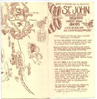 Brochure Dépliant Faltblatt Folder - Toerisme Tourisme - St John Beaches - Cruz Bay - Map 1981 - Dépliants Touristiques