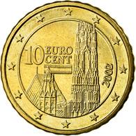 Autriche, 10 Euro Cent, 2002, SUP, Laiton, KM:3085 - Autriche