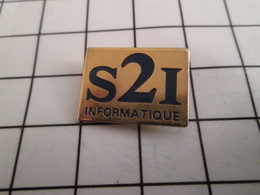 816b Pin's Pins / Beau Et Rare / THEME : INFORMATIQUE / S2I INFORMATIQUE - Informatique