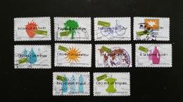 France Timbres Oblitérés  N° A183-A192 (4205-4214) Série Complète - Année 2008 - Développement Durable - Francia