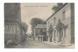 CPA 14 SAINT AUBIN SUR MER Grande Rue - Saint Aubin