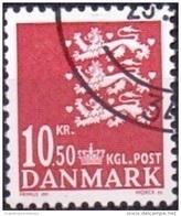 DENEMARKEN 2009 10.50kr Rijkswapen Rood GB-USED - Danimarca