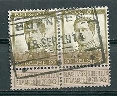 119 In Paar Gestempeld (spoorwegstempel Met 3 Sterren) BORNHEM (lijn Mechelen - Terneuzen) - 1912 Pellens