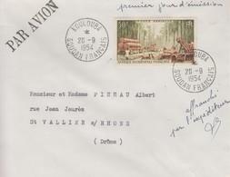 Enveloppe  1er  Jour   AFRIQUE  OCCIDENTALE  FRANCAISE   POSTE  AERIENNE   1954 - Unclassified