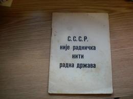 WW II Anti- Allies Propaganda   Judaica Bolshevism,anti Mason RRR SSSR Nije Radnicka Niti Radna Drzava - Scandinavische Talen
