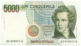 5000 LIRE B. D'ITALIA VINCENZO BELLINI SERIE SOSTITUTIVA XC 01/12/1997 FDS - [ 2] 1946-… : Repubblica