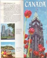 Brochure Dépliant Faltblatt Folder - Toerisme Tourisme - Canada + Illustr Map - Dépliants Touristiques