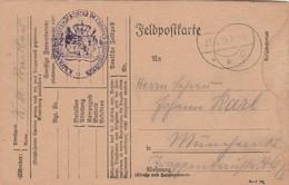 Allemagne Feldpostkarte Cachet Militaire Grossen Hauptquartier - 2 Scan - Allemagne