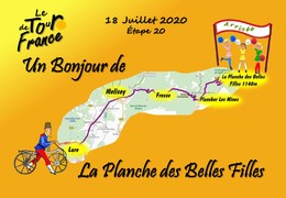 Tour De France Etape 20 18 Juillet 2020  Plancher Les Mines La Planche Des Belles Filles Lure Un Bonjour De - France