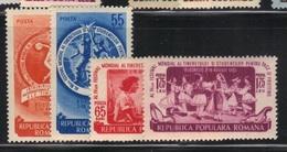 Roumanie 1953 Yvert 1308/11 Neufs** MNH (AB24) - 1948-.... Repubbliche