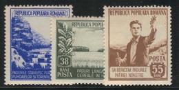 Roumanie 1953 Yvert 1312/14 Neufs** MNH (AB24) - 1948-.... Repubbliche