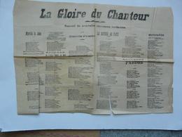 VIEUX PAPIERS - RECUEIL DE NOUVELLES CHANSONS TORDANTES : La Gloire Du Chanteur - Partitions Musicales Anciennes