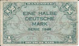 ALLEMAGNE   -   DEUTSCHLAND   1/2  Mark   1948   -   RFA - [ 5] Ocupación De Los Aliados
