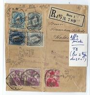 SUISSE:  Beau Fragment D'envoi De Bern Pour Walshut Du 27.X.1910,  Super Affranchissement Mixte De 1,40 Fr.  B à TB - Lettres & Documents